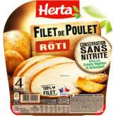Herta HERTA Filet de poulet rôti - Conservation sans nitrite - 4 t... - 120g