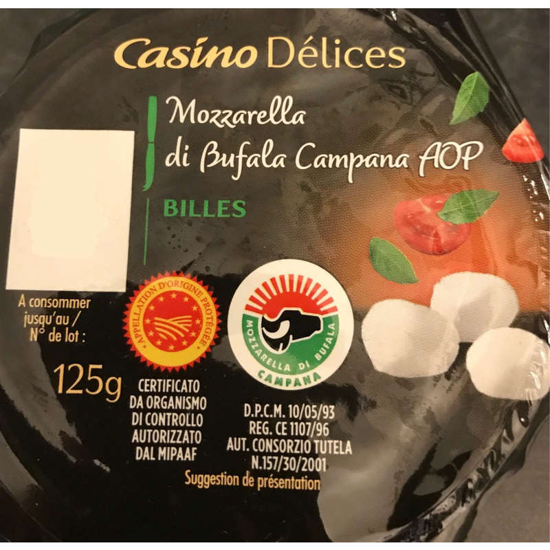 Mozzarella Di Bufala Campana AOC - Billes