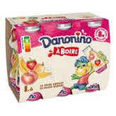 Danone DANONE Danonino - Yaourt à boire - Saveurs panachées - 6x100g