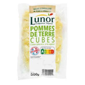 Légumes vapeur - Les pommes de terre en cubes