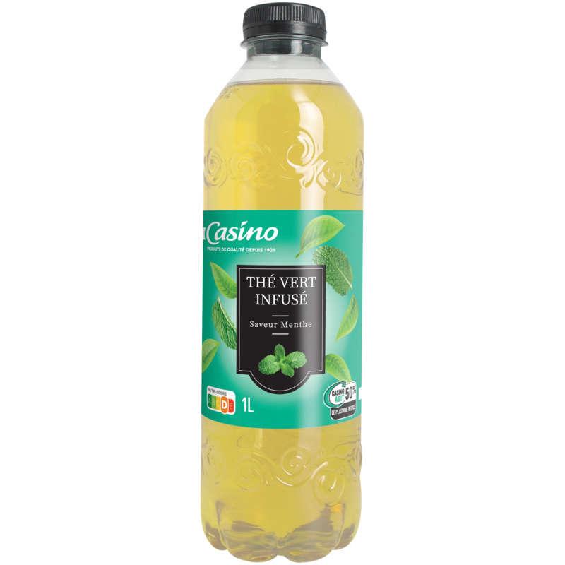 Thé vert infusé saveur menthe - Boisson au thé