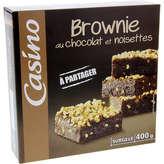 CASINO Brownie au chocolat et noisettes 400g
