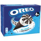 Oreo OREO Cônes glacés - Vanille avec morceaux de biscuit Oreo - ... - 6x110ml