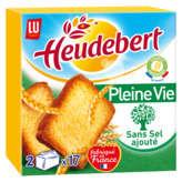 LU HEUDEBERT Biscottes - Nature - Sans sel ajouté - x34 - 300g