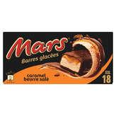 Mars MARS Barres glacées - Caramel beurre salé - Enrobage chocol... - x18