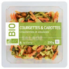 Courgettes carottes amandes cranberries - Biologique