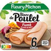 Fleury Michon blanc de poulet fumé tranche fine x6 - 180g
