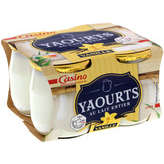 CASINO Yaourt au lait entier saveur vanille pot ve