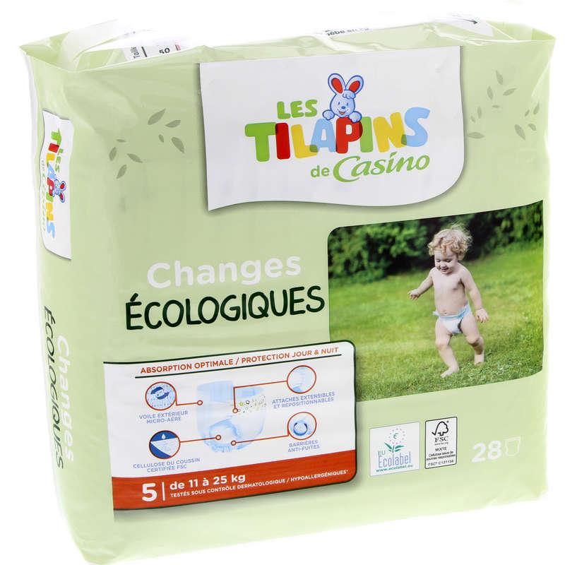LES TILAPINS Changes bébés - Ecologiques - Taille 5 - De 11 ...
