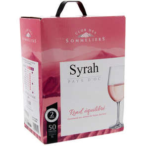 Syrah rosé igp 12,5%