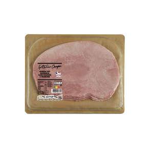 Jambon cuit au torchon - Découenné - Dégraissé  - 4  tranches
