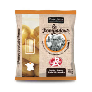 Pomme de terre de consommation à chair ferme - Variété Pompadour  - Cat.1 - Cal. 28/35