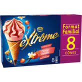 Nestlé Nestle Extrême - Fraise Vanille Sauce Fruits Rouges - Cônes ... - 8x120ml