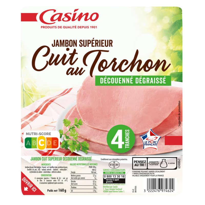 Jambon blanc superieur - Cuit au torchon - Viande de...