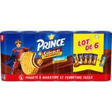 LU LU Prince - 5 chocolats et 1 vanille - Biscuit fourré - 6x300g