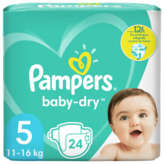 Pampers PAMPERS Baby-Dry - Couches - Taille 5 - x24