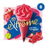 Nestlé NESTLE Extrême - Cornets glacés - Pink tropic - Grenade et f... - x6