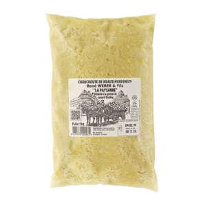 La Paysanne - Choucroute de Krautergersheim - Cuisinée à la graisse canard et Riesling