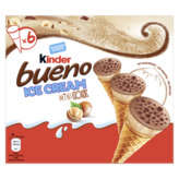 Kinder KINDER Bueno - Mini cônes glacés - chocolat - noisettes - x6... - 240g