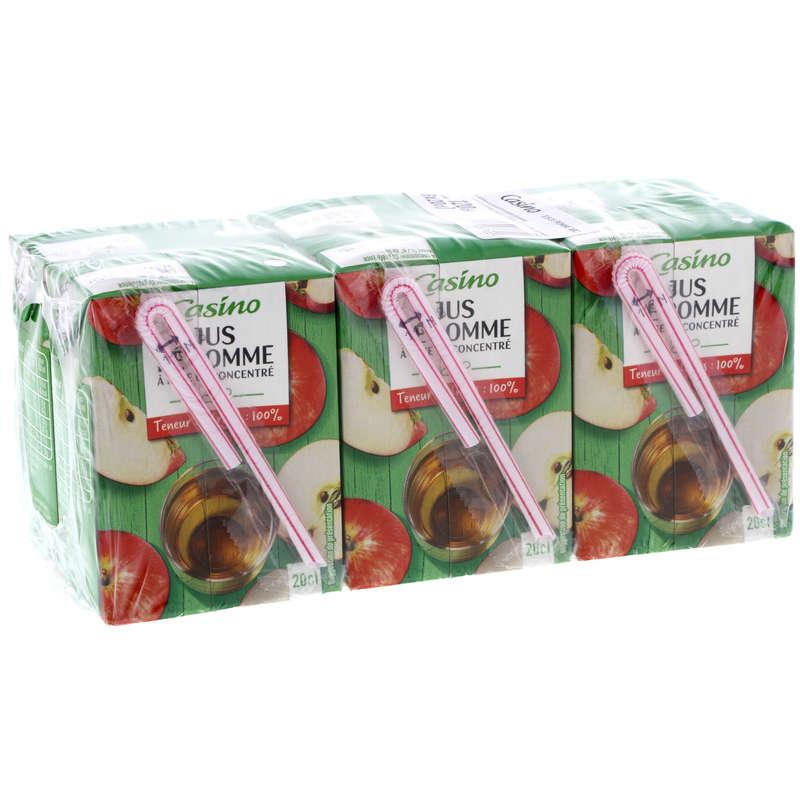 CASINO Jus de pomme - Mini briques