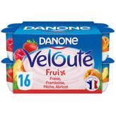 Danone DANONE Fruix - Yaourt Velouté - Fraise, Framboise, Abricot, ... - 16x125g