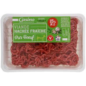 Viande hachée fraîche pur bœuf - 15% mg