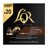 Maison du Café L'OR Espresso - Forza - 20 Capsules Aluminium - Intensité 9 ... - 104g