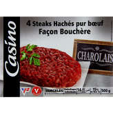 CASINO Steak hache x4 charolais 500g