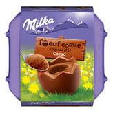 Milka MILKA L'œuf coque - Œufs en chocolat - Cacao - 136g