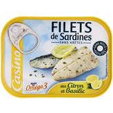 Saupiquet Filets De Sardines, Sans Arêtes, Marinade Légère Citron Basilic, Sans Huile. - Envoi Rapide Et Soignée...