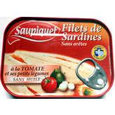 Saupiquet Filets De Sardines À La Tomate Et Ses Petits Légumes 1/6 100g X 3(envoi rapide et Soignée)