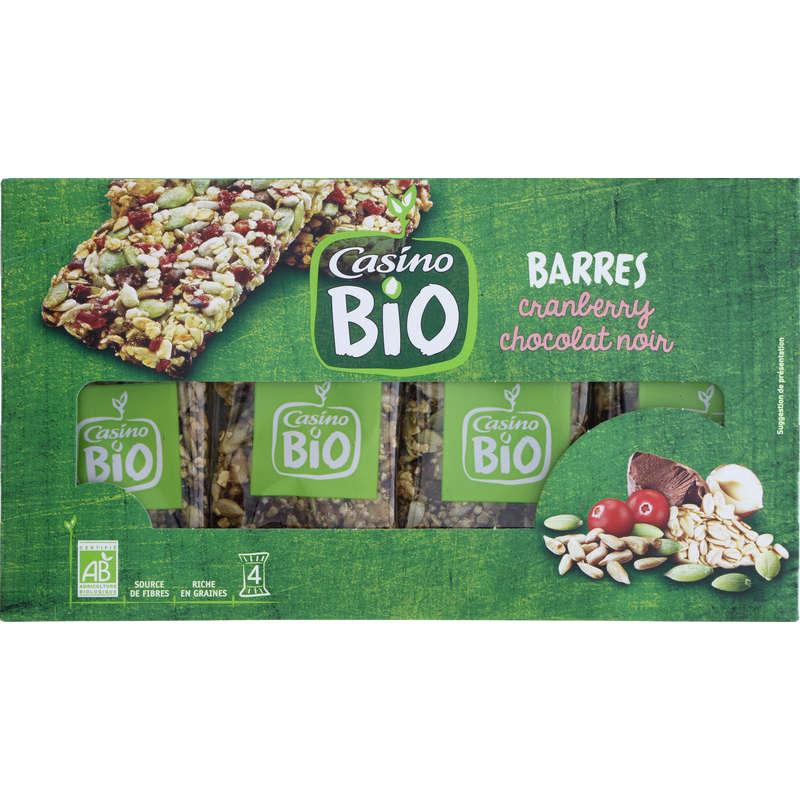 Bio - Barres de céréales - Cranberry chocolat noir -B...