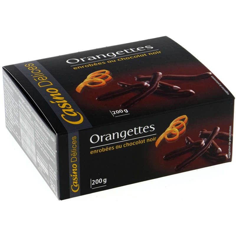 Orangettes - Enrobées au chocolat noir