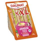 Daunat DAUNAT XXL Sandwich - Jambon - Emmental - x3 - 230g