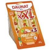 Daunat DAUNAT XXL - Sandwich - Poulet rôti - Crudités - x3 - 230g