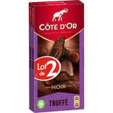 Côte d'Or COTE D'OR Tablette de chocolat - Noir - Truffé - 2x190g