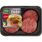 Socopa Burger Du Chef Nature 15% Mg - X4 - 440g