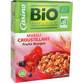 CASINO BIO Muesli croustillant - Fruits rouges - B
