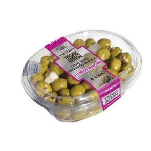 Olives vertes dénoyautées à la méditerranéenne