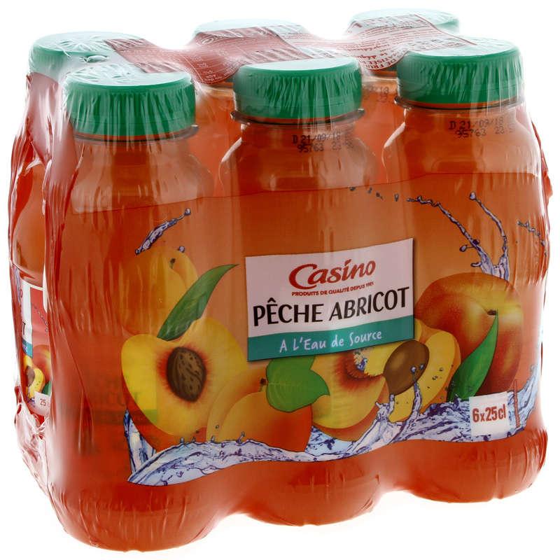 CASINO Boisson aux fruits - Pêche abricot - A l'eau de sourc...