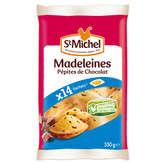 ST MICHEL Madeleine Coquilles Indiv Aux Pepites De Chocolat X14