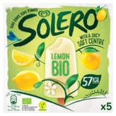 Solero SOLERO Bâtonnets glacés - citron - Biologique - x5 - 5x52ml