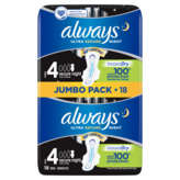 Always Ultra - Serviettes - Secure Nuit - Taille 4 - X18
