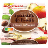 CASINO Compote - Pomme châtaigne 4x100g