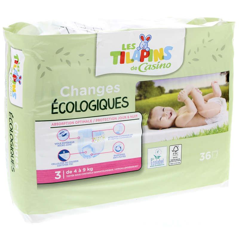 LES TILAPINS Changes bébés - Ecologiques - Taille 3 - De 4 à...