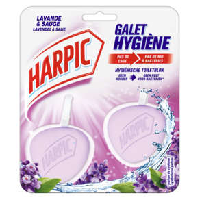 2 blocs fraîcheur Active Harpic Lavande 2 x 40 g