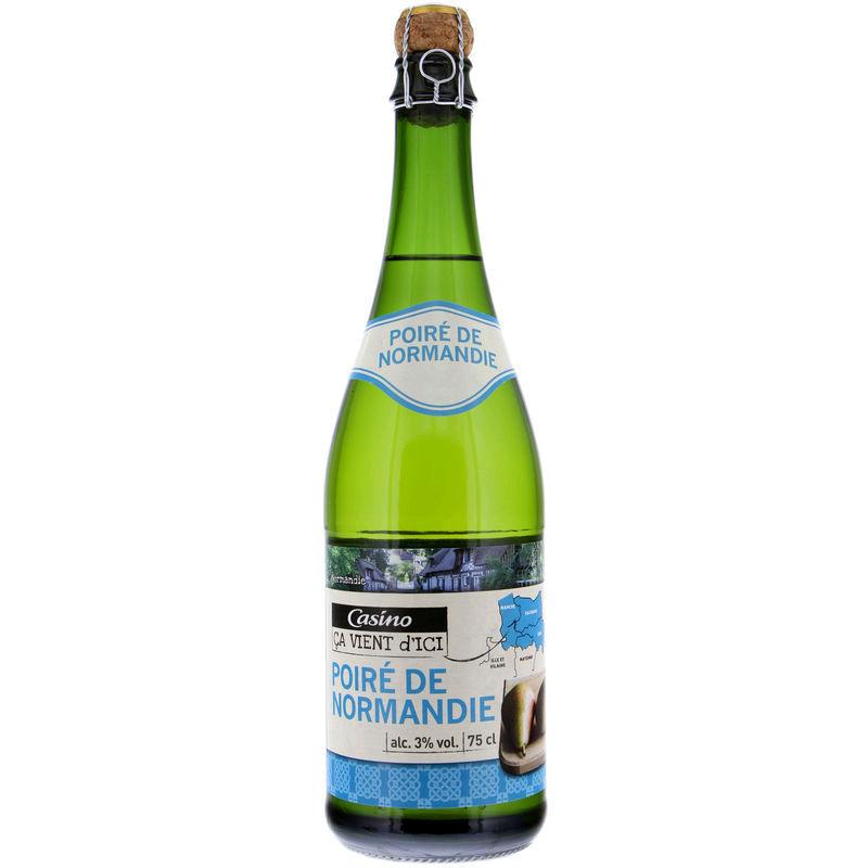 CASINO CA VIENT D'ICI Poiré de Normandie - Alcool 3% vol.