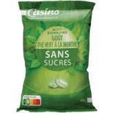 CASINO Bonbon sans sucre thé vert 150g