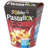 Sodeb'O SODEBO Pasta'box - Pâtes fusilli - Carbonara - 300g