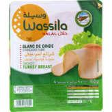 Wassila WASSILA Blanc de dinde - Fumé - Halal - 4 tranches - 160g